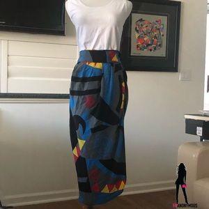 Vintage Robert Haik Silk Skirt 44